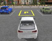Настоящая парковка автомобилей